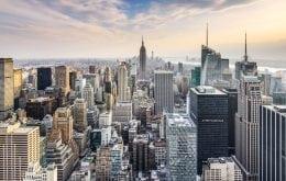 Birds eye view of NYC