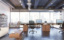 Trendy Office Space with View of the City