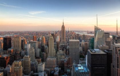 Amazing view of NYC skyline