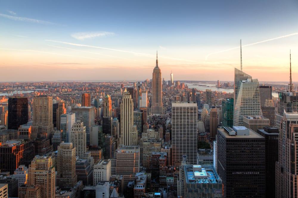 Amazing view of NYC skyline