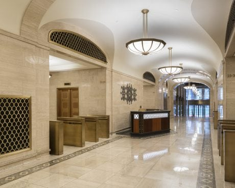 Marble lobby in Graybar building