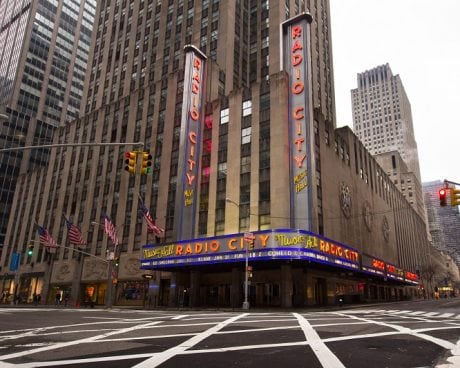 Exterior of Radio City Music Hall