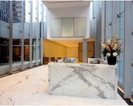 Modern marble NYC lobby