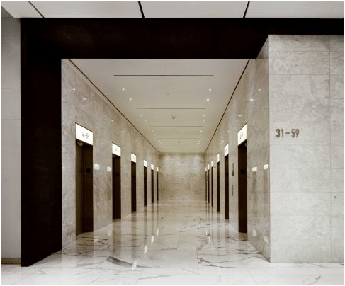 Marble interior NYC Office Suites building