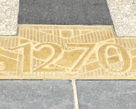 Address plate of Rockefeller Center