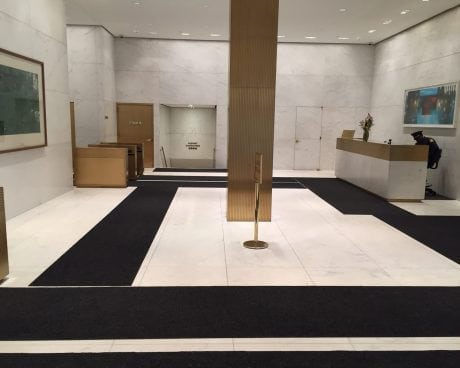 Modern lobby in Rockefeller Center