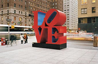 Iconic LOVE sculpture