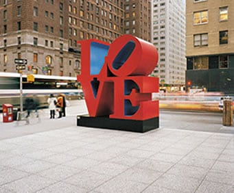 Iconic LOVE statue in NYC