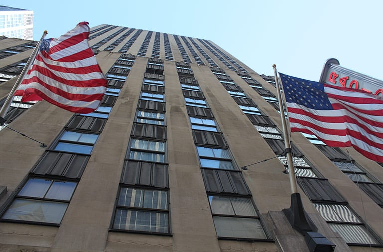 Outside view of NYC office suites building