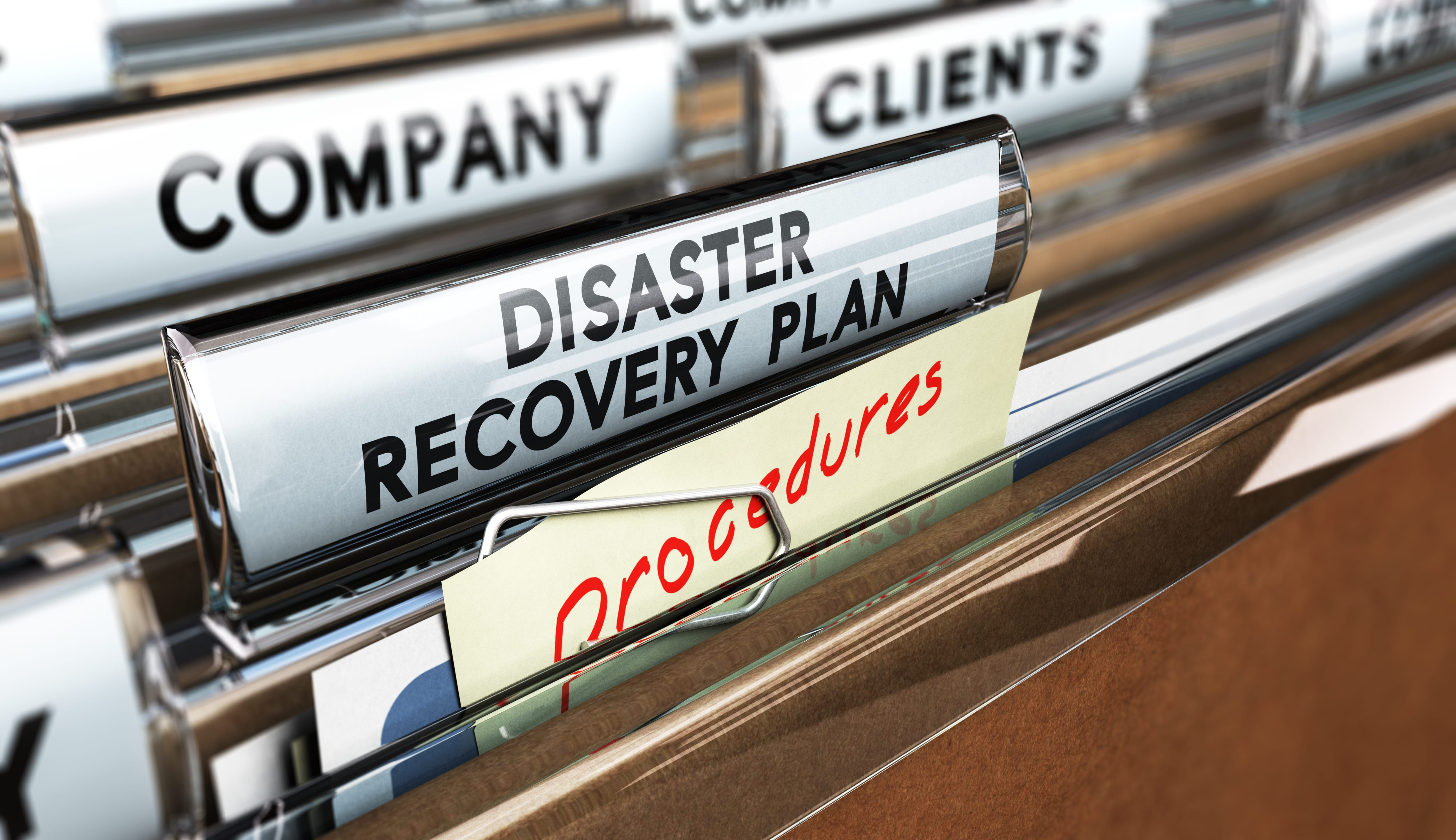 business preparing a disaster recovery plan